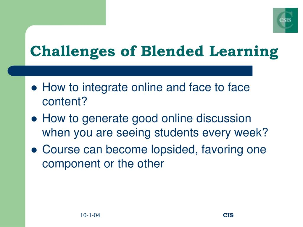 Challenges of Blended Learning