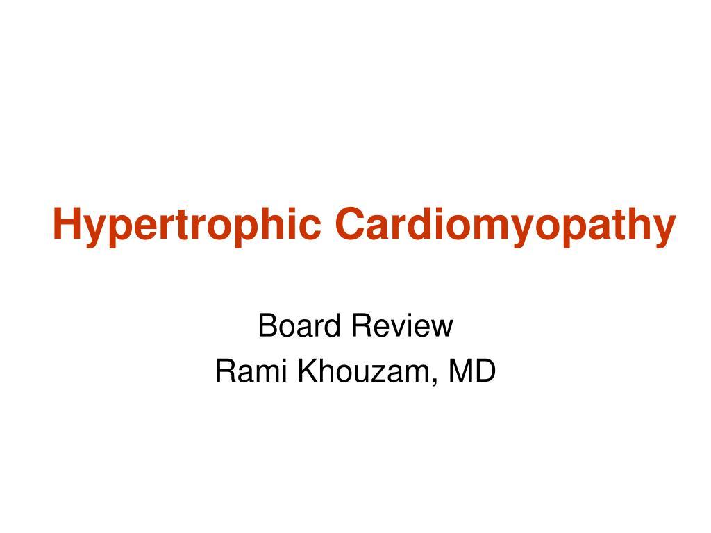hypertrophic cardiomyopathy l.
