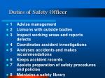 duties of safety officer