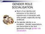 gender role socialisation