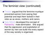 the feminist view continuted