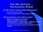 post war germany the economic miracle