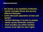 radical feminists22