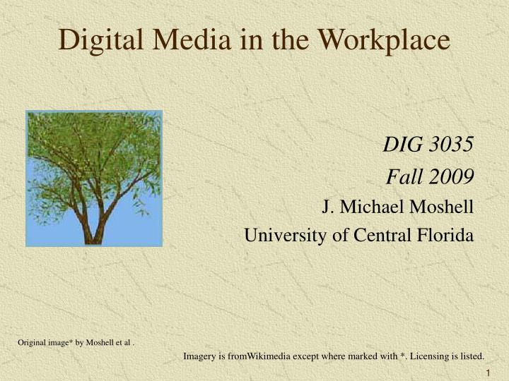 digital media in the workplace n.