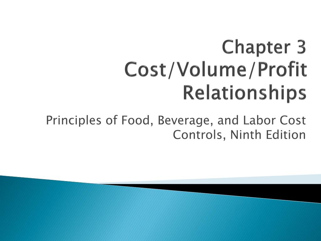 chapter 3 cost volume profit relationships l.