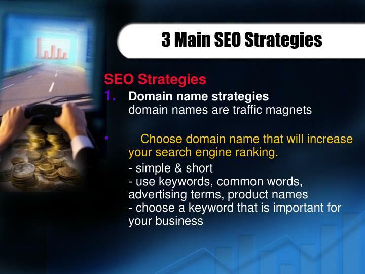 3 Main SEO Strategies