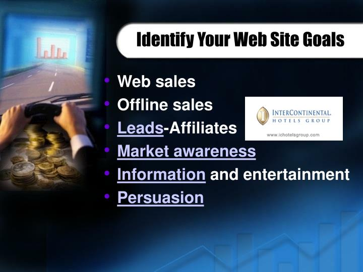 Identify Your Web Site Goals