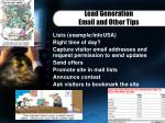 lead generation email and other tips