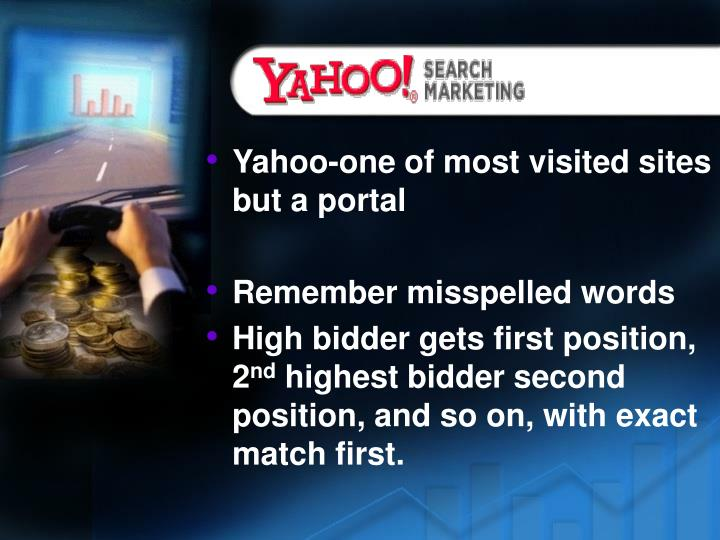 Yahoo-one of most visited sites but a portal