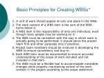 basic principles for creating wbss