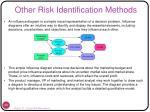 other risk identification methods33
