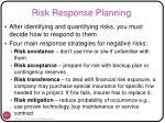 risk response planning