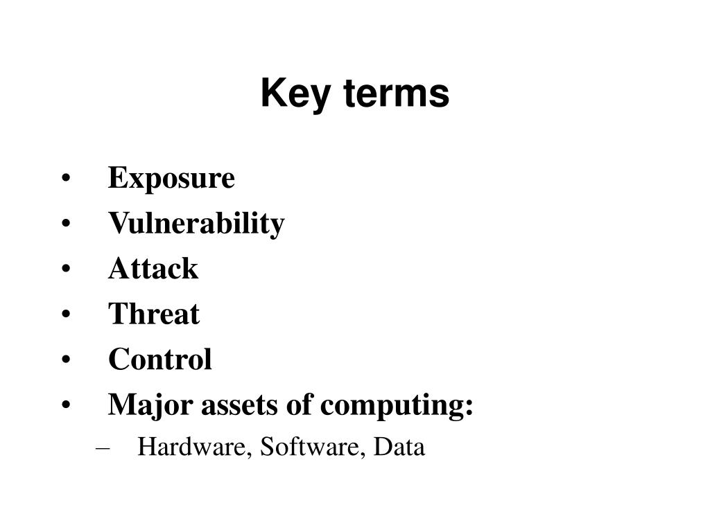 key terms l.