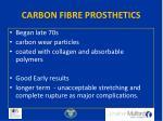 carbon fibre prosthetics