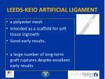 leeds keio artificial ligament