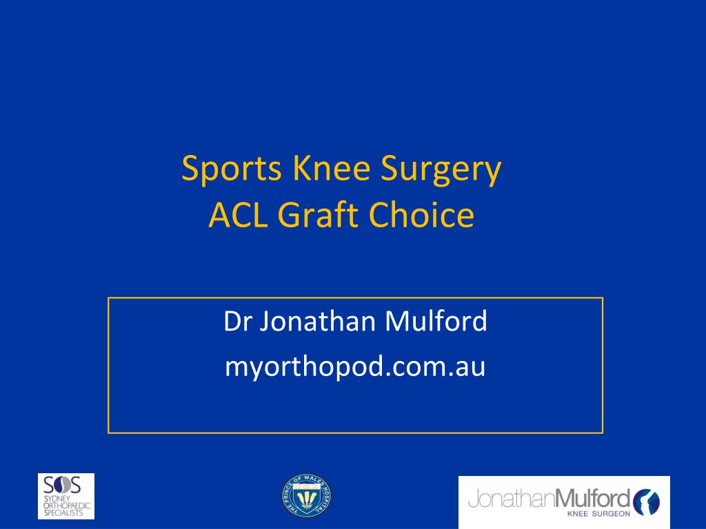 sports knee surgery acl graft choice l.