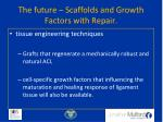 the future scaffolds and growth factors with repair