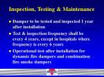 inspection testing maintenance