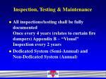 inspection testing maintenance12