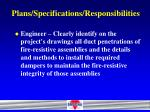 plans specifications responsibilities25