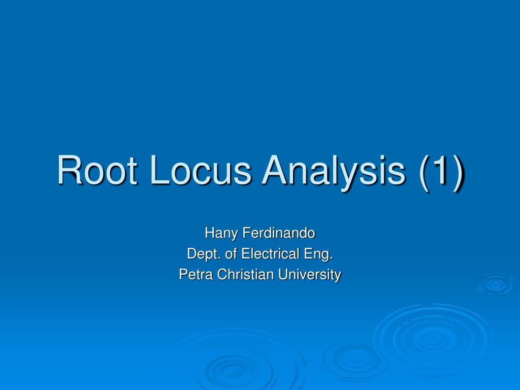 root locus analysis 1 l.