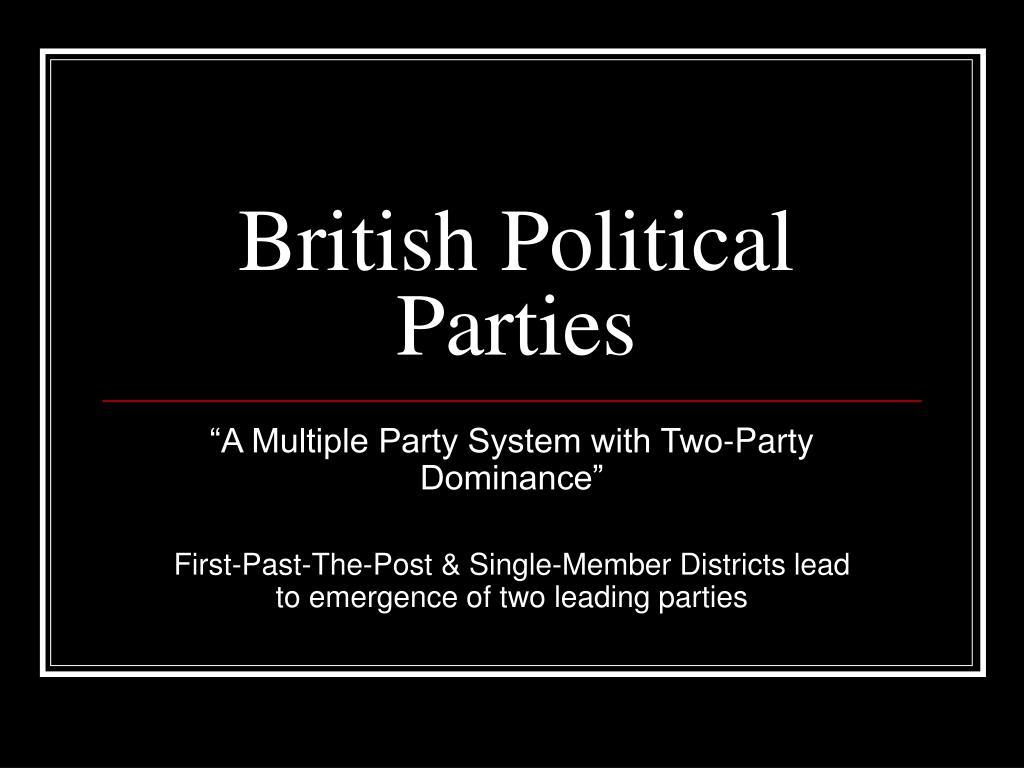 british political parties l.