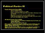 political parties ii21