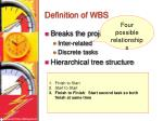 definition of wbs8