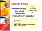definition of wbs9