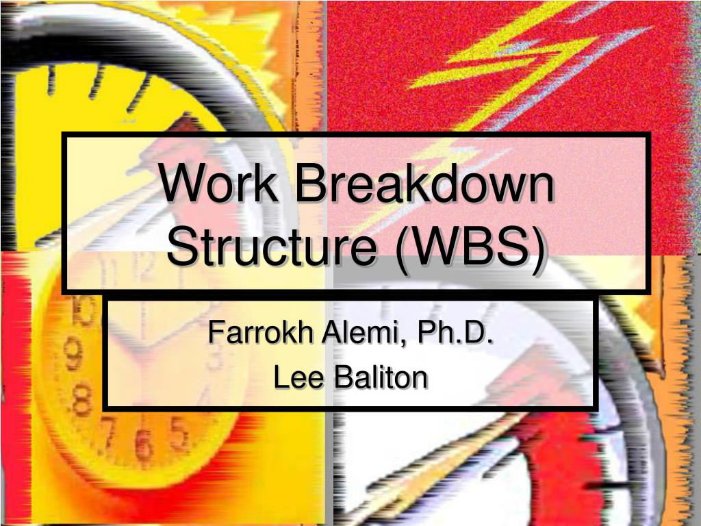 work breakdown structure wbs l.