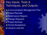 key inputs tools techniques and outputs24