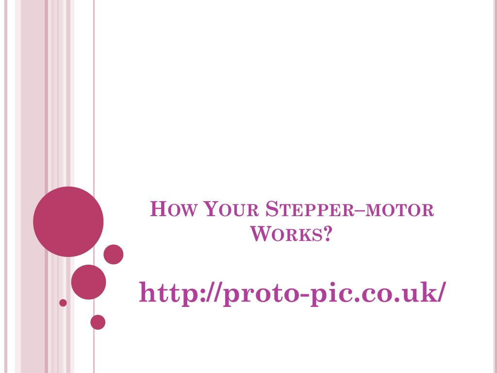 how your stepper motor works l.
