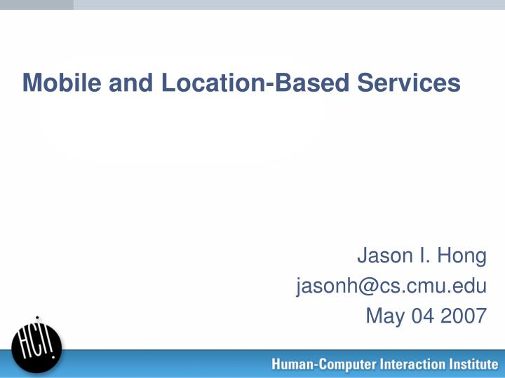 mobile and location based services n.