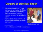 dangers of electrical shock