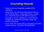 grounding hazards