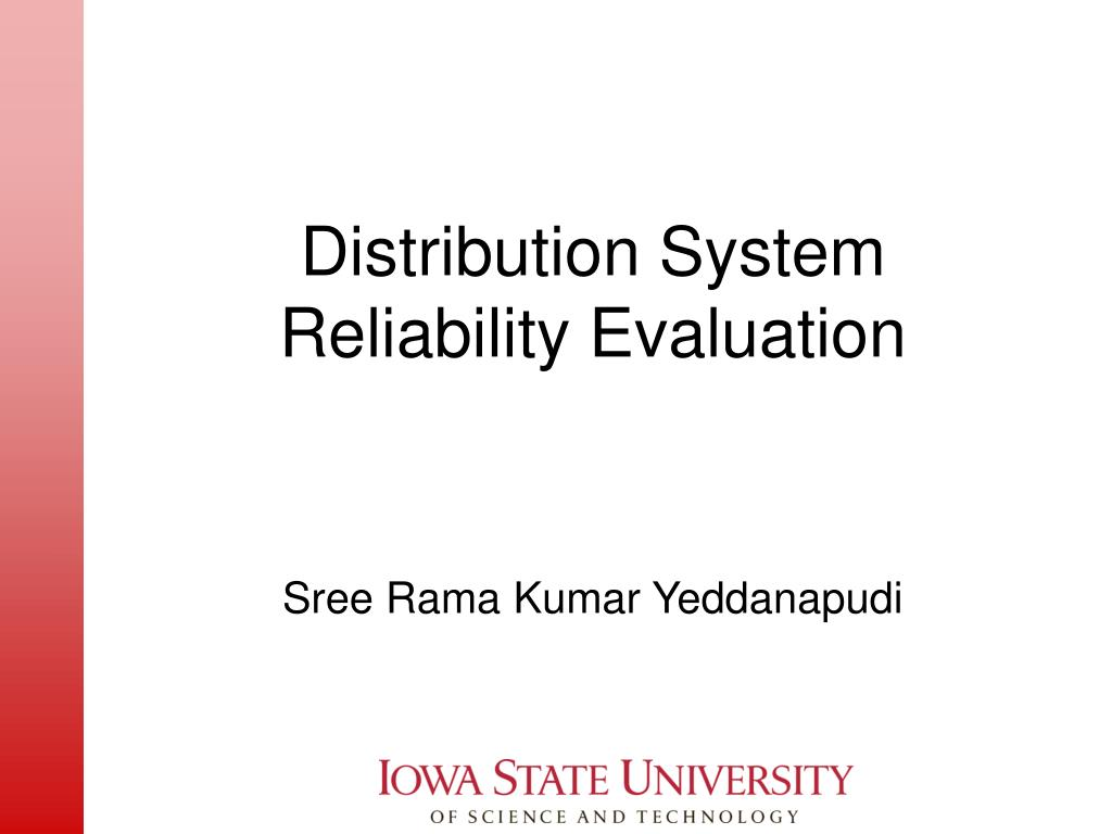 distribution system reliability evaluation l.