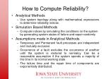 how to compute reliability