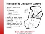 introduction to distribution systems