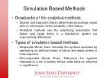 simulation based methods