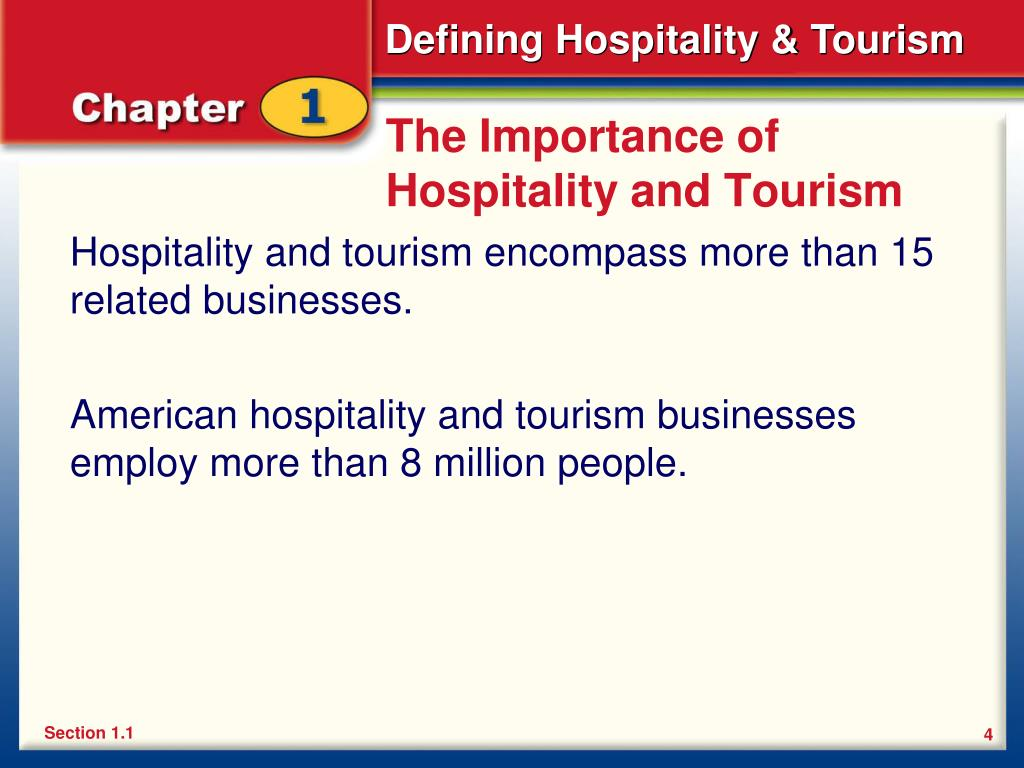 The Importance of Hospitality and Tourism