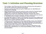 task 1 initiation and planning overview