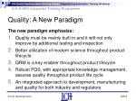quality a new paradigm8