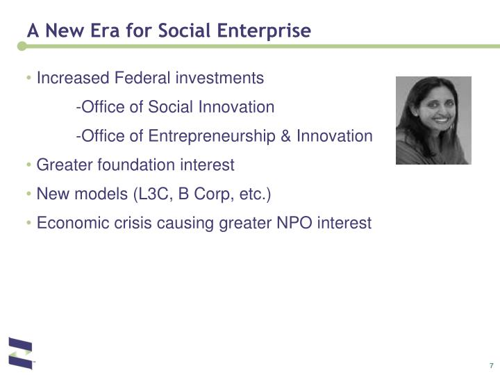 A New Era for Social Enterprise