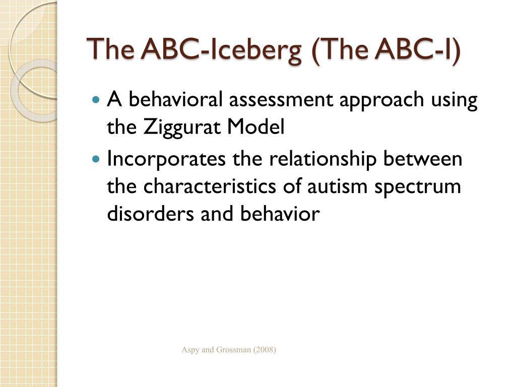 The ABC-Iceberg (The ABC-I)
