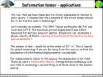 deformation tensor applications