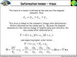 deformation tensor trace