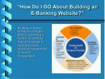 how do i go about building an e banking website