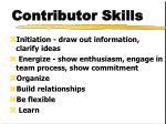 contributor skills