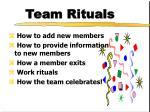 team rituals