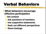 verbal behaviors